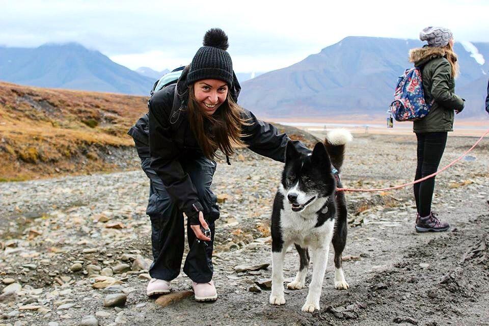 Victoria Jusko in Svalbard Norway