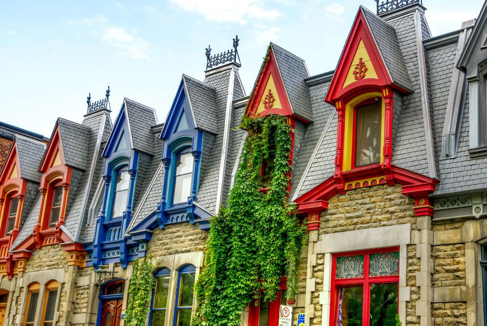 Victorian houses in Montréal, Canada