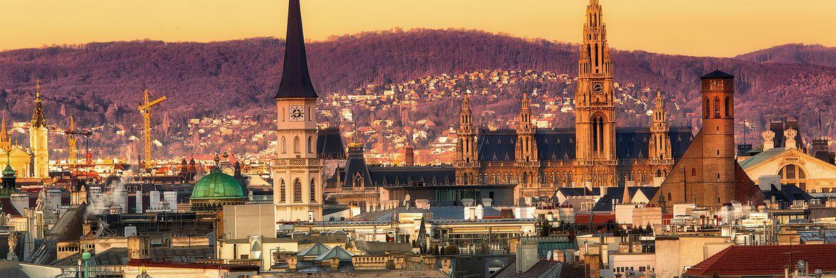 Vienne sunset, Austria