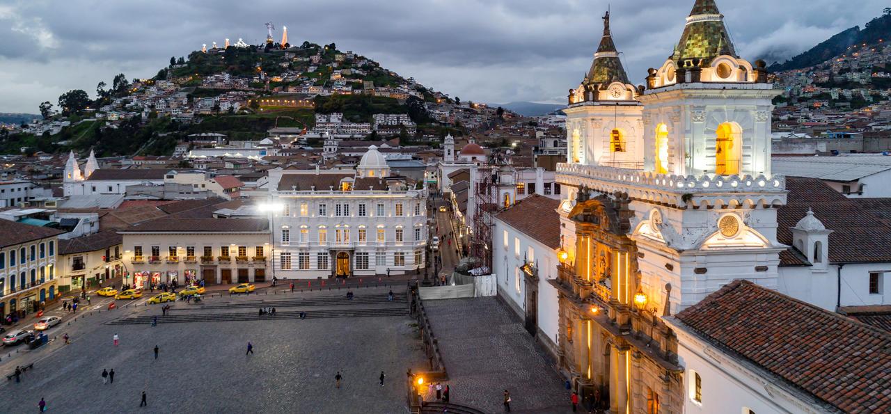 View, Casa Gangotena, Quito, Ecuador