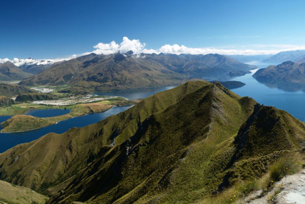 View from Roys Peak, Wanaka, South Island, New Zealand