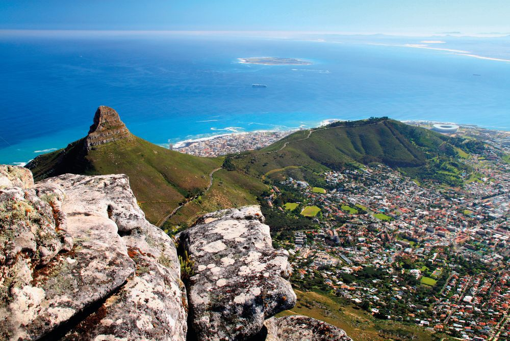 View from Table Mountain, Cape Town, South Africa