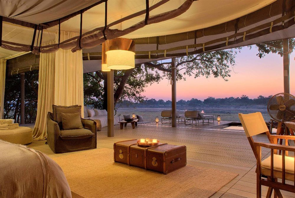 View from Villa, Chinzombo, South Luangwa National Park