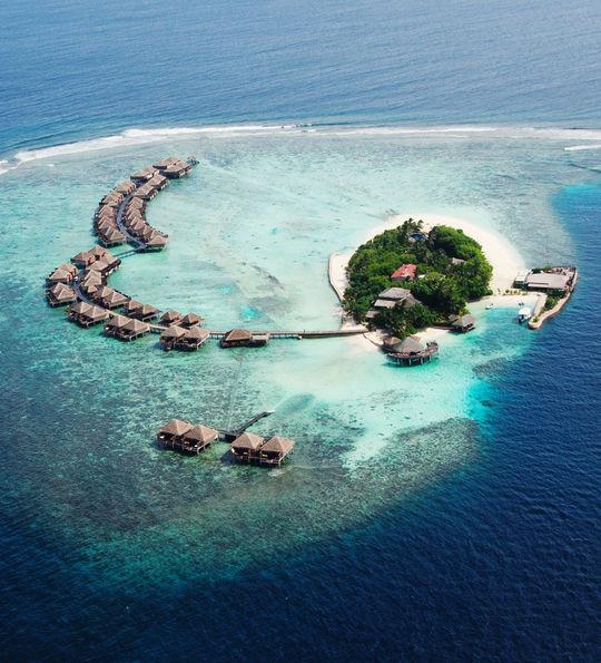 Private island resort in the Maldives