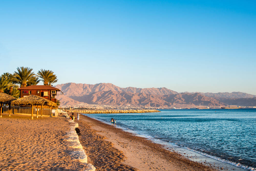 Eilat beach, Jordan