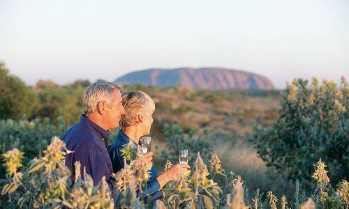 View of Uluru, Red Centre, Northern Territory, Australia