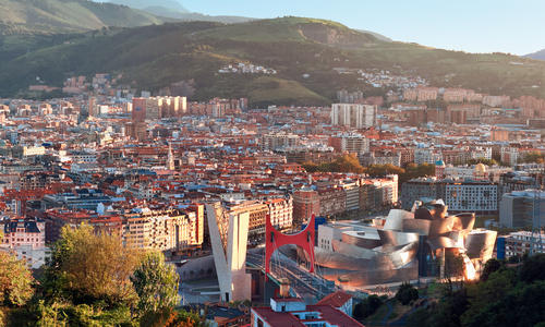 View of city Bilbao, Spain