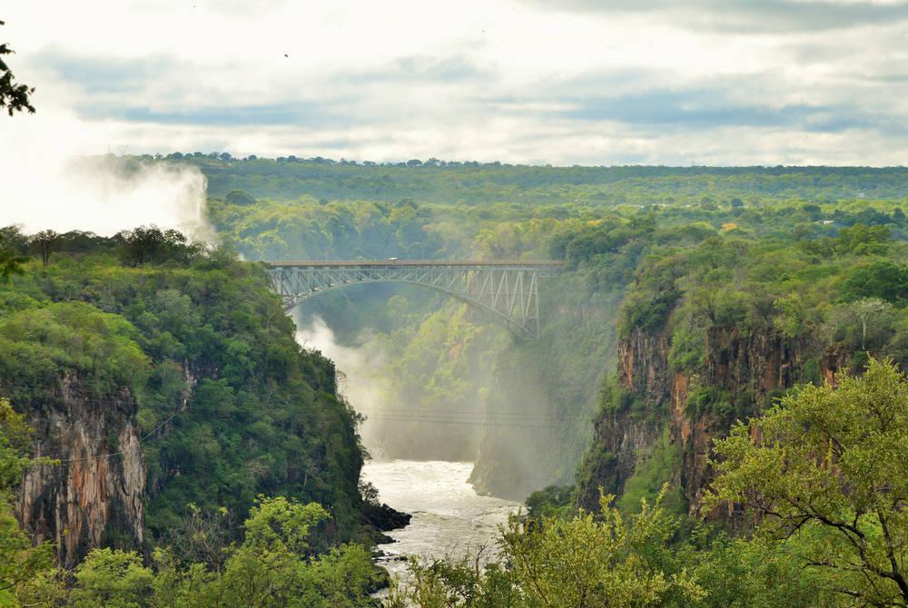 View of falls, Victoria Falls Hotel