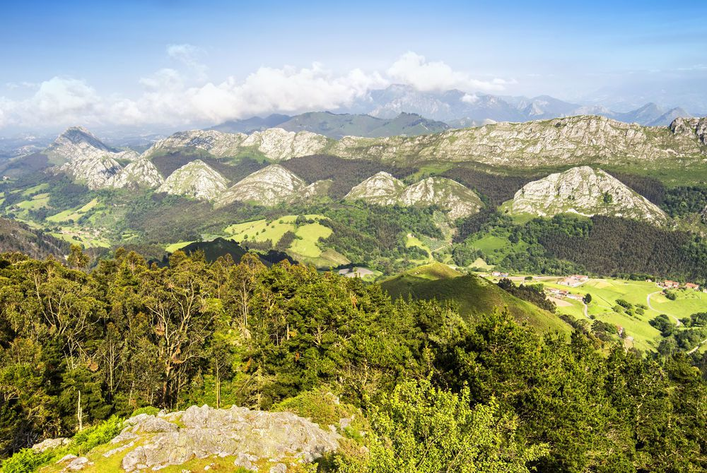 View of the Picos de Europa in Asturias