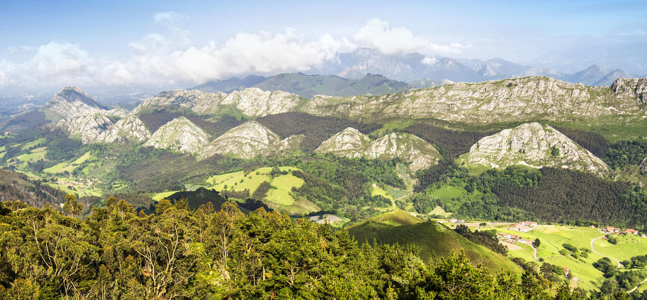 View of the Picos de Europa in Asturias, Spain