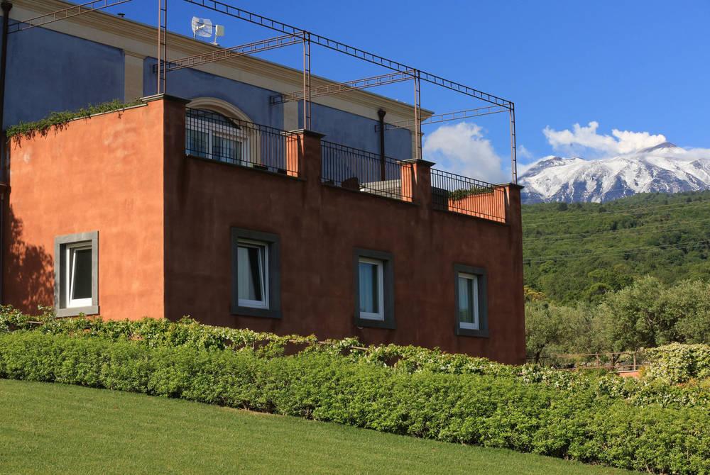 Villa Neri with Mt Etna