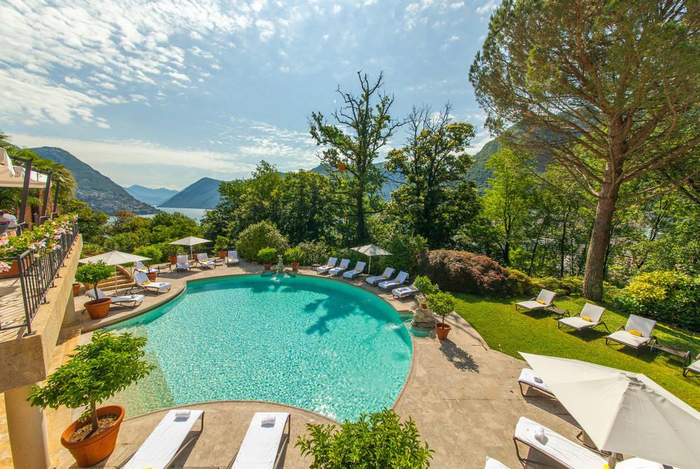 Pool at Villa Pricipe Leopoldo, Lugano
