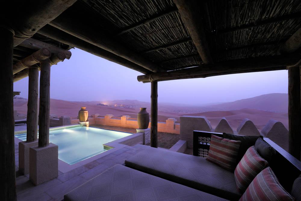 Villa pool, Anantara Qasr Al Sarab