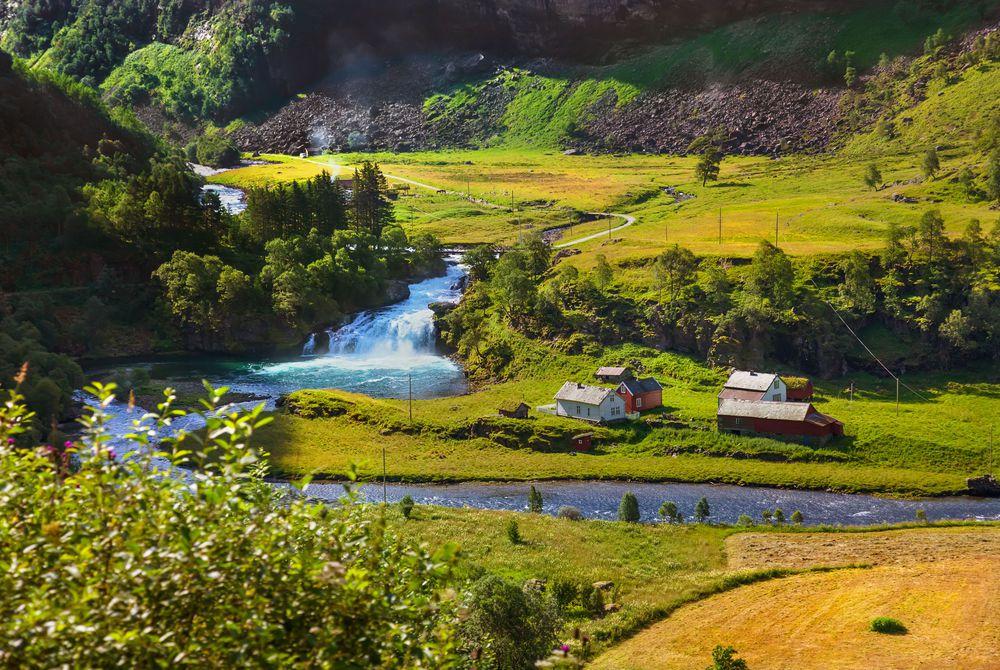 Village in Flam, Norway