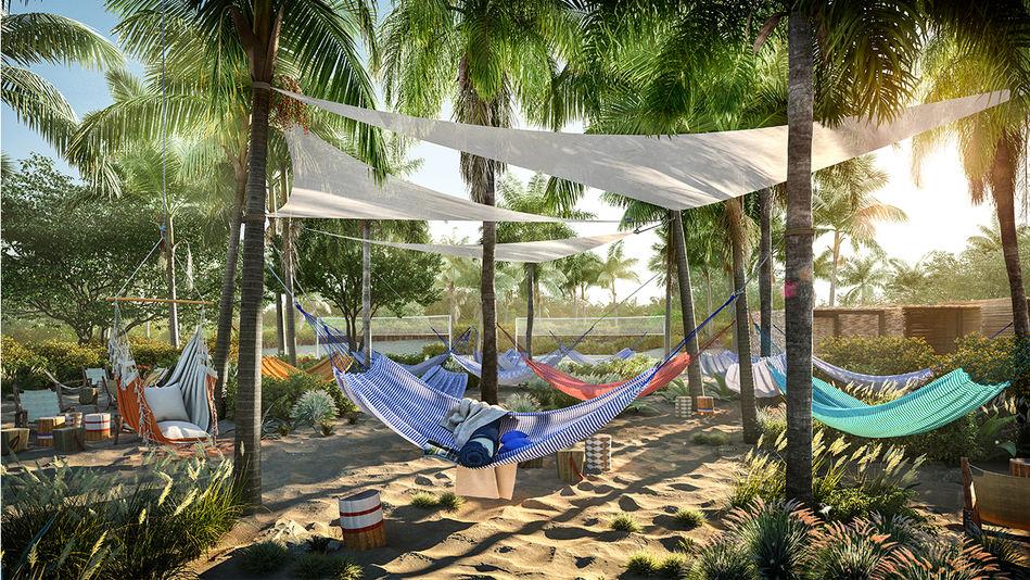 Hammock Zone at Virgin Voyages Beach Club, Bimini