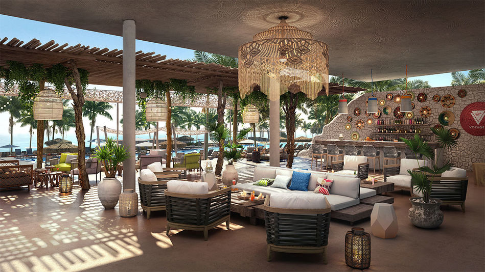 The lounge and bar area at The Beach Club
