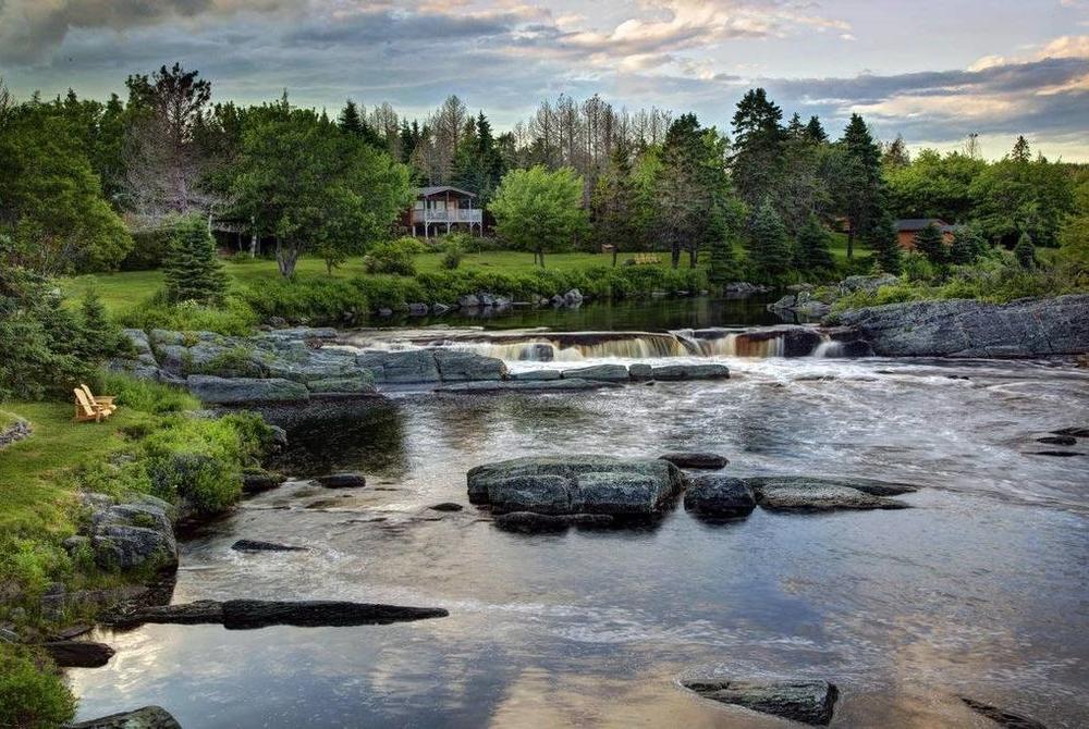 Waterfall, Liscombe Lodge, Liscomb, Nova Scotia, Canada