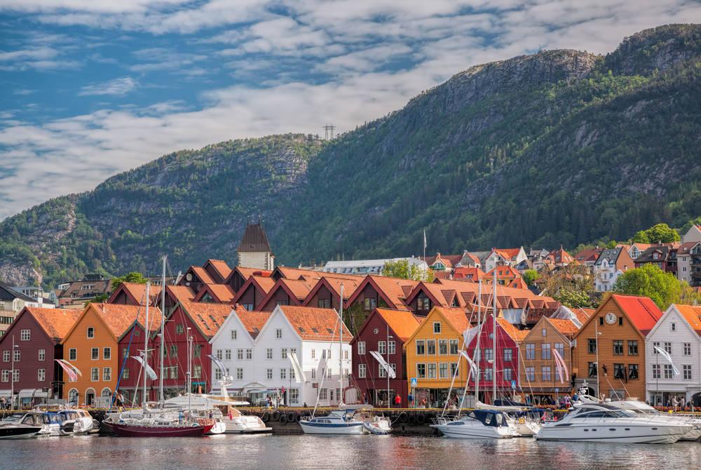 Waterside view of Bergen