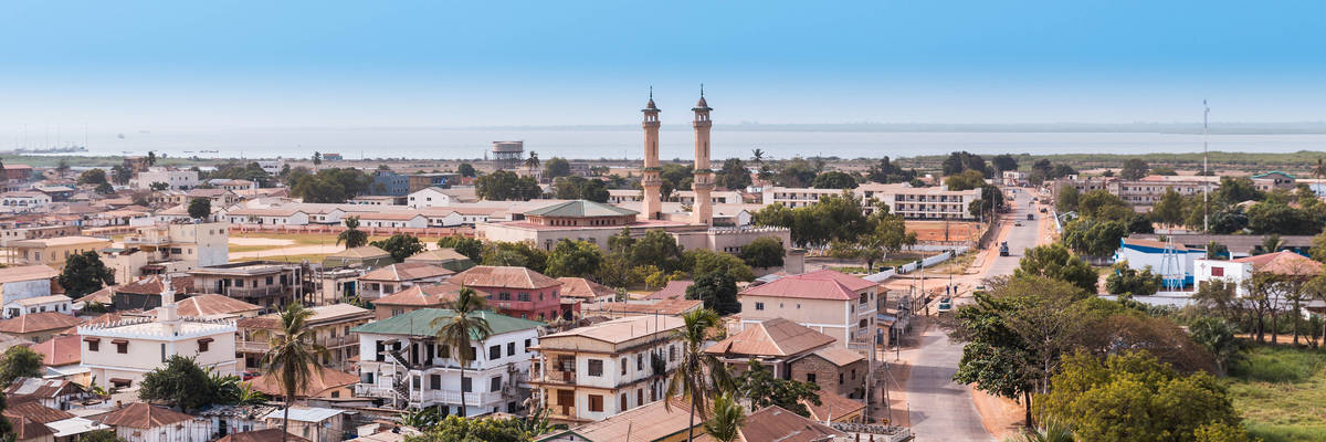 West Africa Gambia Banjul - panoramic view city
