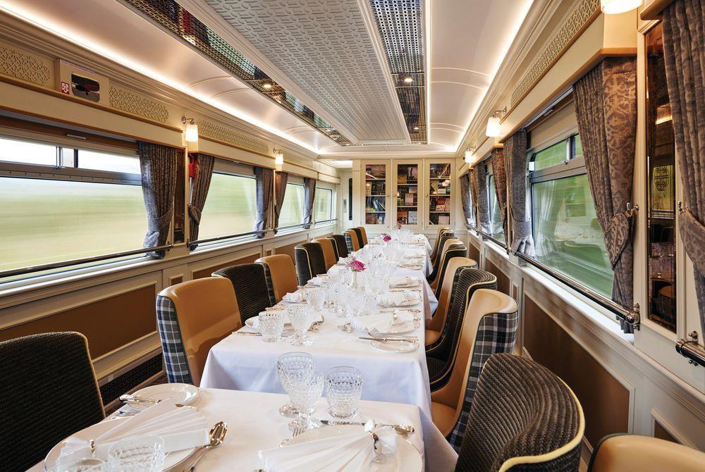 Wexford Dining Car wide shot - Belmond Grand Hibernian