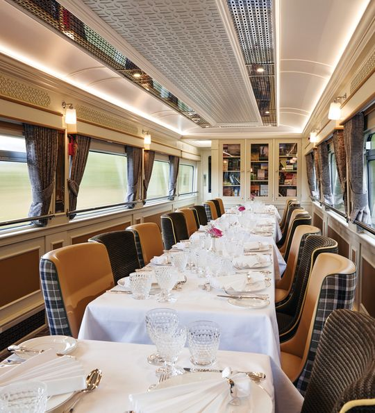 Wexford Dining Car wide shot - Belmond Grand Hibernian