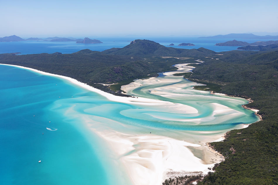 Whitehaven Beach of Hamilton Island in the Whitsundays, Australia