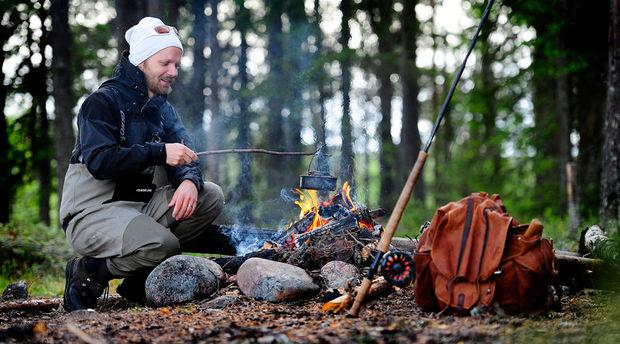 Wild cooking in Levi, Finnish Lapland