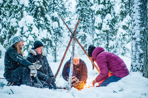 ICEHOTEL winter wilderness survival lessons excursion