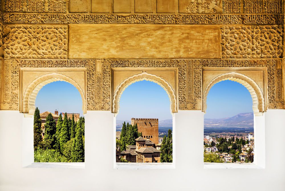 Windows at the Alhambra, Granada, Spain