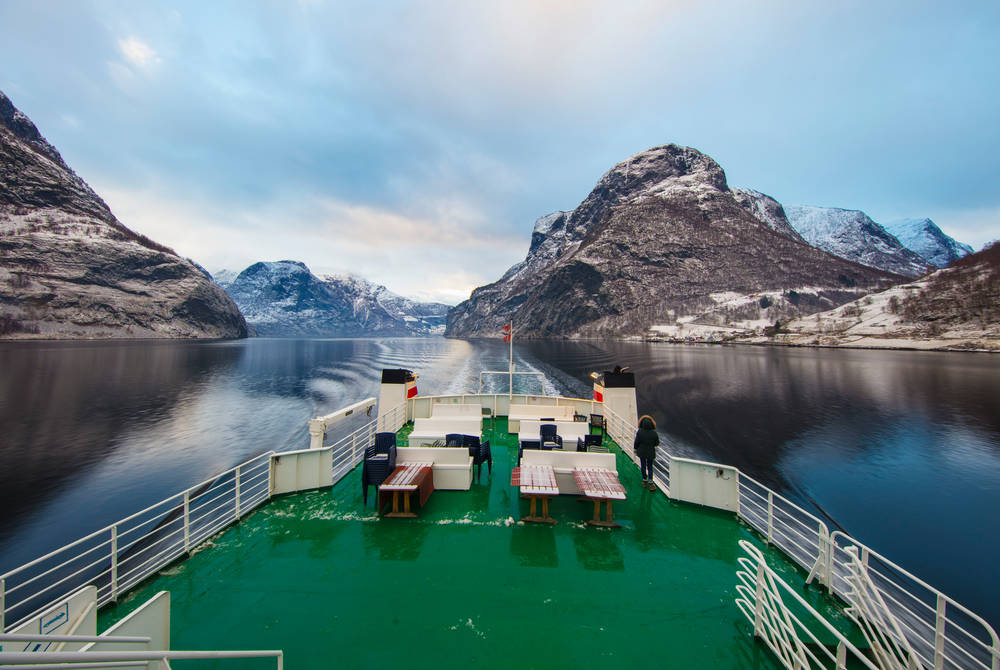 Winter cruise in Flåm, Norway