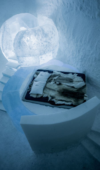 Wishing thinking suite at the ICEHOTEL 365 in Swedish Lapland