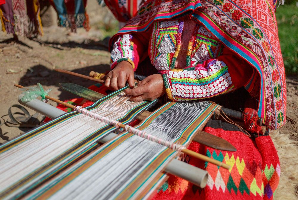 Woman Weaving Fabric, Huillos, Sacred Valley, Peru