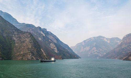 Wu Gorge of Three Gorges at the Yangtze River, near Badong, Hubei, China