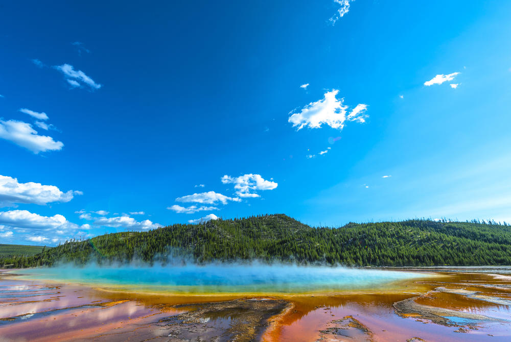Coloured lake in Yellowstone National Park