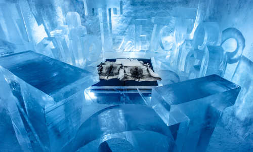 You Are My Type Art Suite, ICEHOTEL 365 2017 (© Asaf Kliger)