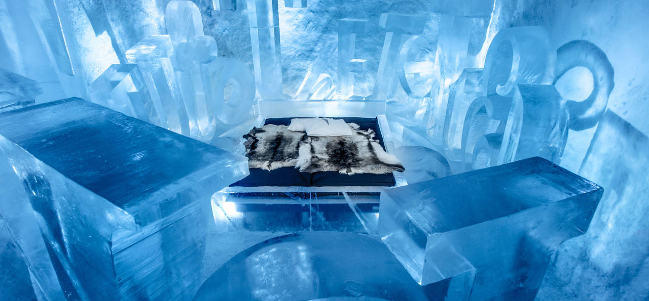 'You Are My Type' Art Suite, ICEHOTEL 365 (Credit: Asaf Kliger)
