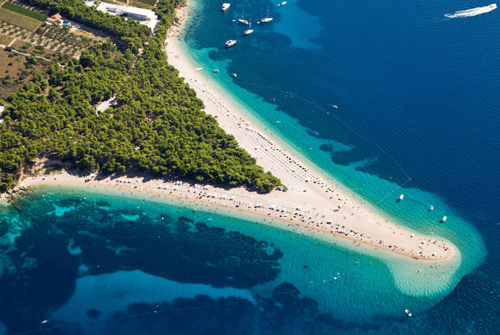 Zlatni Rat beach in Bol, Brac Island, Croatia