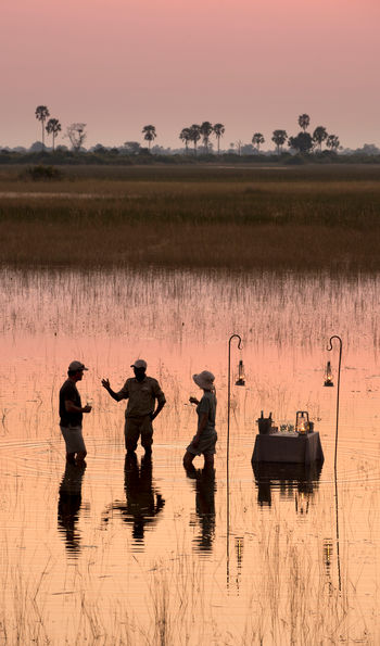 Dining out on the Okavango Delta