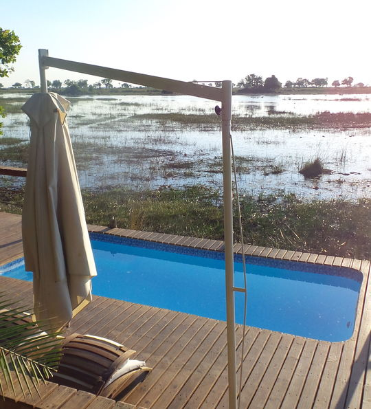 Kwetsani Camp pool, Botswana