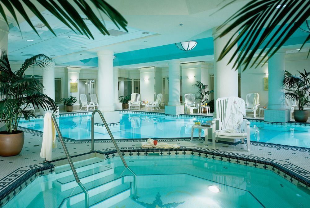 Indoor pool and whirlpool at the Fairmont Palliser