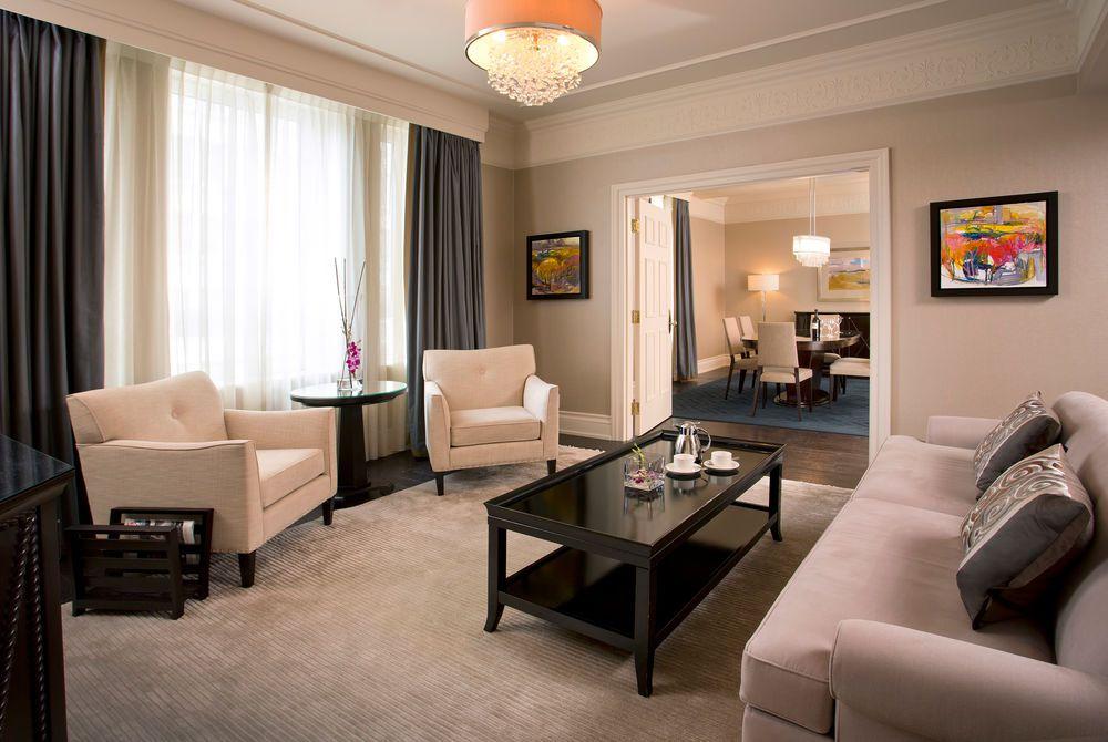 Guest suite at the Fairmont Palliser