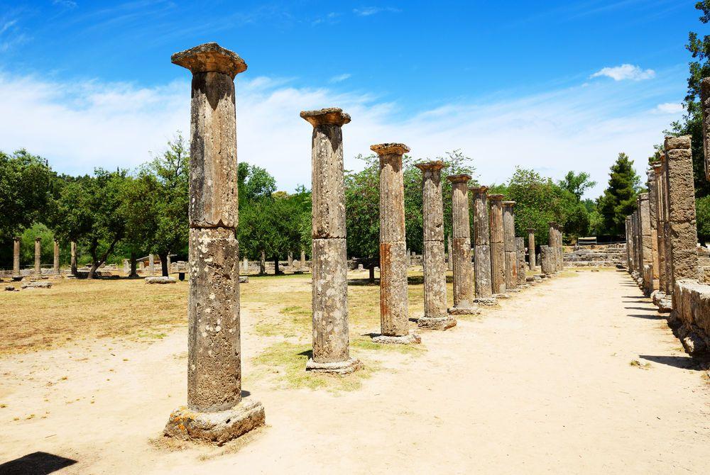 heokoleon ruins in ancient Olympia, Peloponnes, Greece