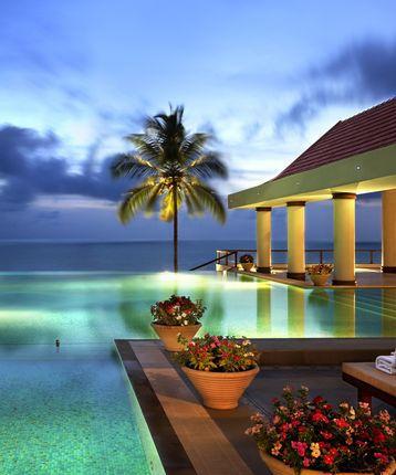 Infinity pool at dusk