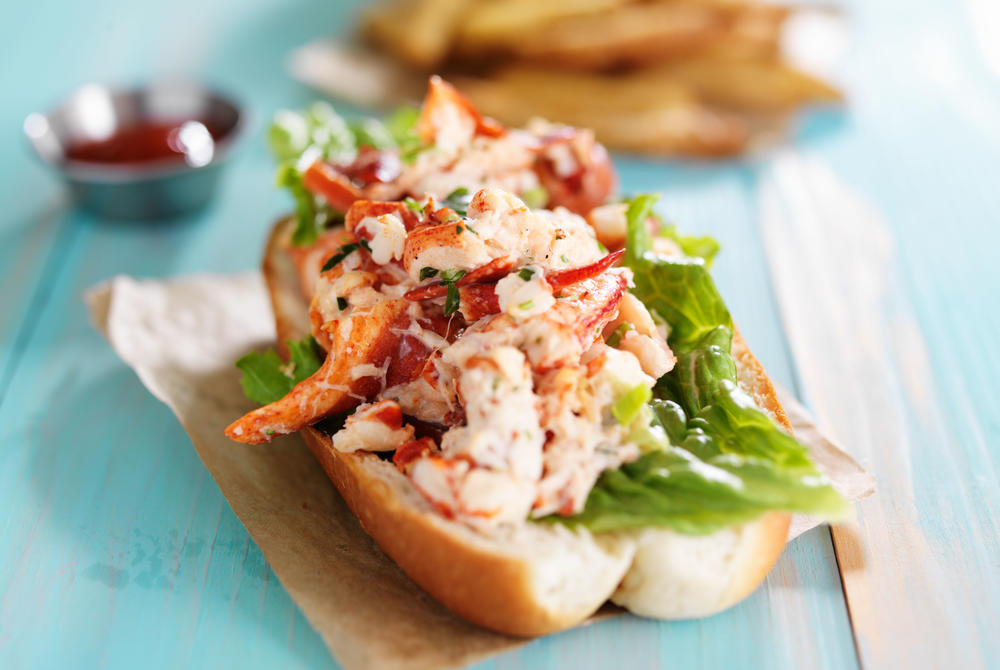 Lobster roll in Maine, New England