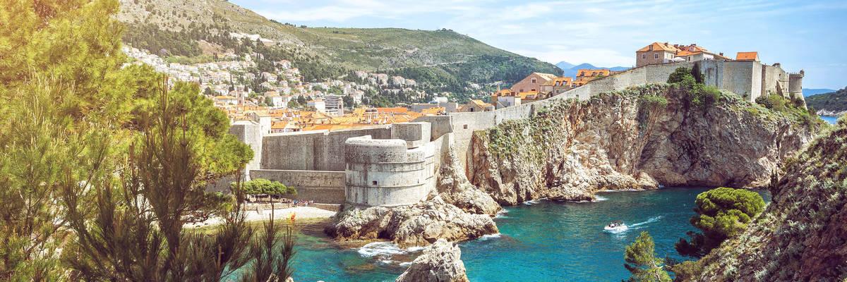 Old town of Dubrovnik in Croatia