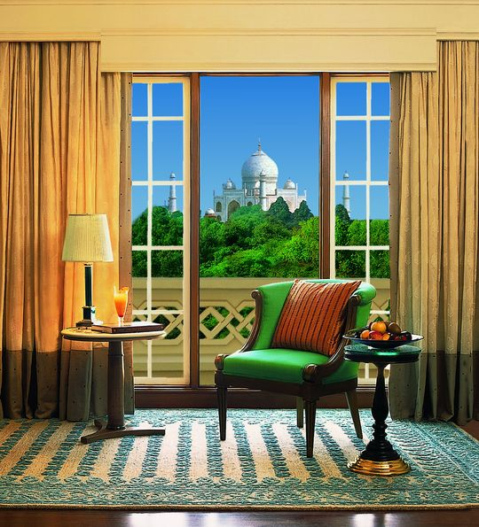 View from a guest room at the Oberoi Amarvilas, Agra