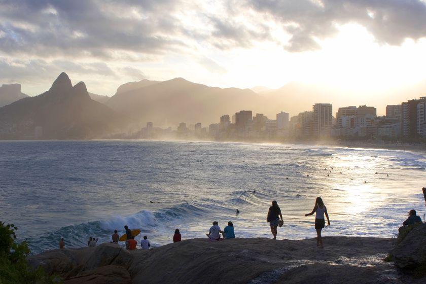 Sunset on Ipanema Beach, Rio de Janeiro