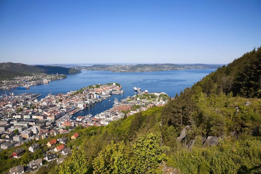 View from Mount Floyen, Bergen, Norway