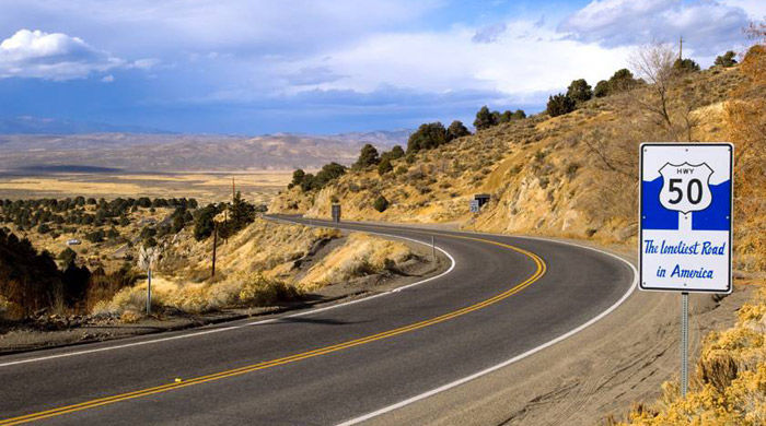 Highway 50, America's Loneliest Road, USA