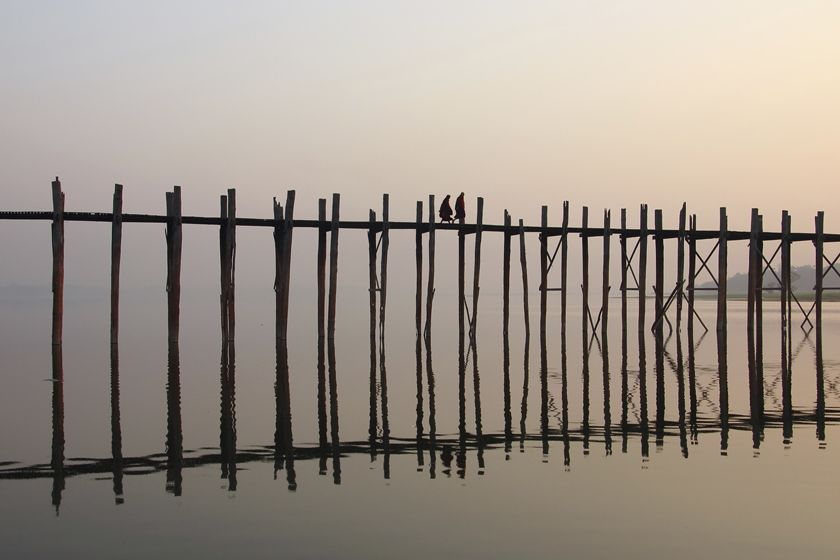 U Bein Bridge, Mandalay, Burma